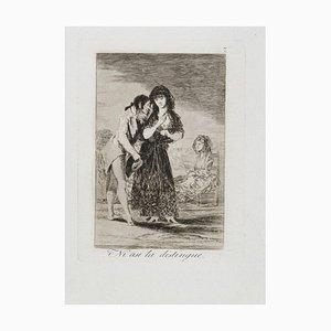 Ni asi la Distingue - Original Radierung von Francisco Goya - 1799 1799