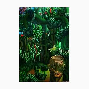 Adàn II - Acrylique sur Toile par Henry Bermudez - 1986 1986