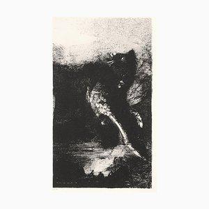 La Chimère aux Yeux Verts - Original Lithograph by O. Redon - 1888 1888