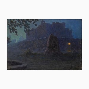 Night - Original Oil on Board by G. B. Crema - 1920s 1920s