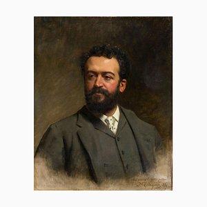 Portrait of E. Gelli - Oil on Canvas by M. Gordigiani - 1887 1887