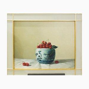 Kirschen, Öl auf Leinwand von Zhang Wei Guang - 2000er 2000er