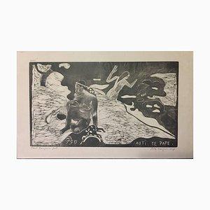 Auti te pape (Les Femmes à la Rivière) - Woodcut After Paul Gauguin 1891 1891