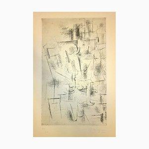 Composition (Nature Morte aux Verres V.11) - Radierung und Kaltnadel von G. Braque 1950 (1912)
