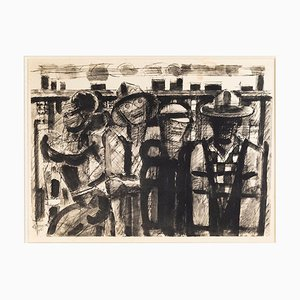 Untitled - Original China Ink by Marcel Gromaire - 1951 1951