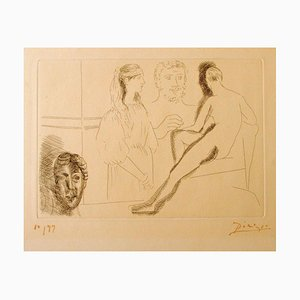 Sculpteur Devant sa Sculpture- Original Etching by P. Picasso - 1927 1927