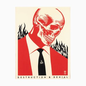Destruction &Denial - Screen Prints by Obey Giant (Shepard Fairey) - 2017 2017
