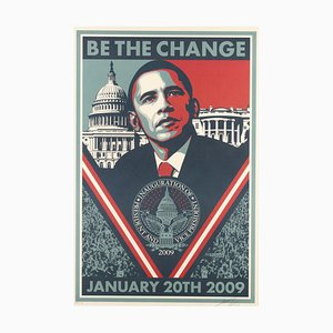 Be the Change - Screen Prints by Obey Giant (Shepard Fairey) - 2009 2009