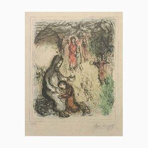 Lithographie Originale de Jacob's Blessing par Marc Chagall - 1979 1979