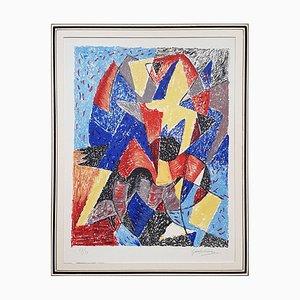 Omaggio a Boccioni - Original Lithografie von Gino Severini - 1962 1962