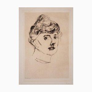 The Princess of Ilmenau - Aguafuerte y punta seca original de E. Munch - 1905/6 1905-1906