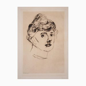 The Princess of Ilmenau - Original Etching and Drypoint by E. Munch - 1905/6 1905-1906