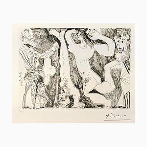 L'Acrobate, avec Femme et Spectateurs - Original Etching 1971 1971