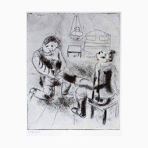Gravure à l'Eau-Forte Gravure The Petrouchka par Marc Chagall - 1923/27 1923/1927