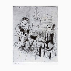 Petrouchka retires les bottes - Original Etching by Marc Chagall - 1923/27 1923/1927