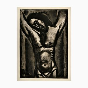 Acquaforte di G. Rouault 1926/1948 originale Jesus Sera en Agonie Jusqu'a la Fin Du Monde