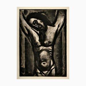 Aguafuerte Jesus Sera en Agonie Jusqu'a la Fin Du Monde - Grabado Original de G. Rouault 1926/1948
