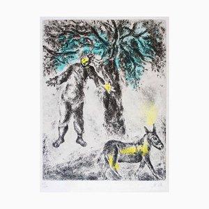 Fin d'Absalom - Aguafuerte original hecha a mano de Marc Chagall - 1958 1958