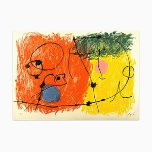 Le Lézard aux Plumes d'Or - Original Lithograph by Joan Mirò - 1971 1971