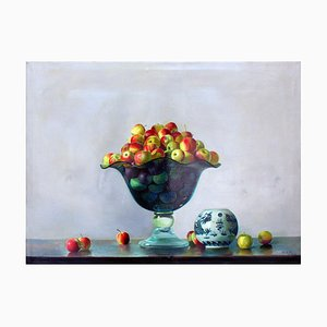 Crystal Vase with apples - Original Oil on Canvas - 2001 2001