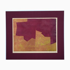 Orange And Bordeaux Composition - Original Lithografie von Serge Poliakoff - 1963 1963
