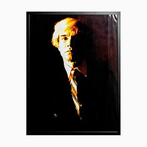 Portrait of Andy Warhol - Yellow print-toning by G. Bruneau - 1980s 1980s