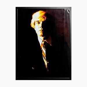 Ritratto di Andy Warhol - Stampa gialla di G. Bruneau - anni '80