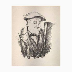 Portrait de Cézanne par lui-meme (Selbstbildnis) - Original Lithographie - 1898 1898