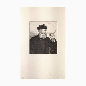 Le Fumeur - Original Etching by E. Manet - 1866 1866