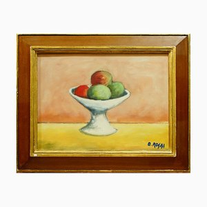 Still Life with Fruits - Oil on Canvas by Ottone Rosai - 1950 ca. 1950 ca.