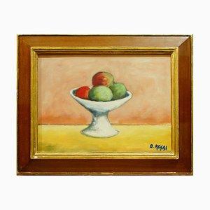 Stillleben mit Früchten - Öl auf Leinwand von Ottone Rosai - ca. 1950 Ca. 1950
