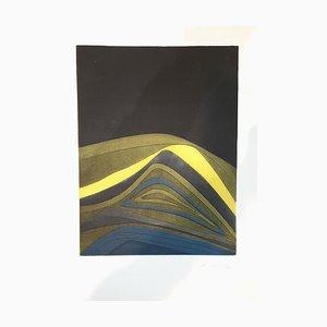 Assiette IV de Suns / Landscapes - Original Etching by R. Crippa - 1971/72 1971/72