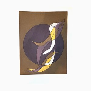 Plato VI de Suns / Landscapes - Original Etching de R. Crippa - 1971/72 1971/72