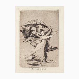 No te escaparas - Original Etching by Francisco Goya - 1868 1868