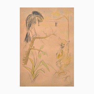 Gravure à l'Eau-Forte Le Bestiaire de la Fontaine Dalinisé par S. Dali 1974 1974