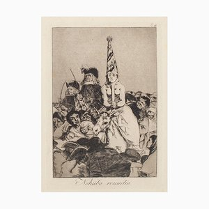 No Hubo Remedio - Original Etching by Francisco Goya - 1868 1868