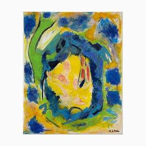 Composition in Yellow - Oil Painting 2020 di Giorgio Lo Fermo 2020