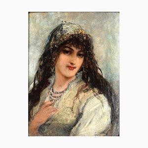 Portrait of Oriental Woman by Joseph Emmanuel Van den Bussche - 1885 1885