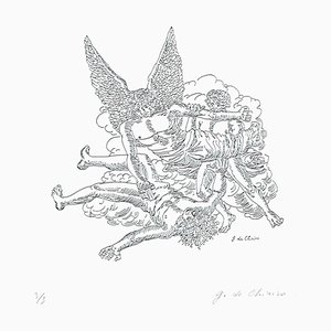 Apocalypse of John the Evangelis - Original Etching by Giorgio De Chirico -1970s 1970s