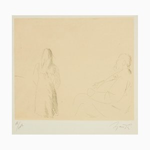 Painter and Model - Original Etching by Giacomo Manzù - 1964 1964