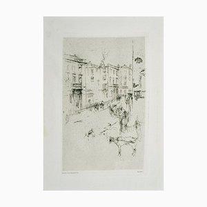 Alderney Street - Original Etching by J.A. Whistler - 1881 1881
