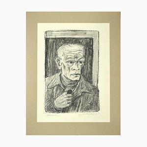 Selbstbildnis (Self-Portrait) - Original Lithograph by E.Heckel - 1965 1965