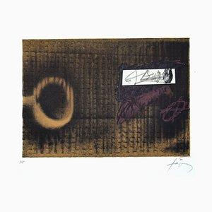 Lithographie L'Etiquette - Original par Antoni Tapiès - 1979 1979