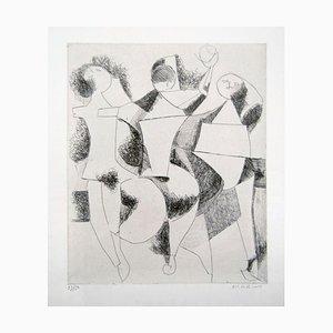 Trio - Original Etching by Marino Marini - 1954 1954