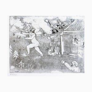 La Suite tout Nu - Original Etching by M. Chagall - 1948 1948