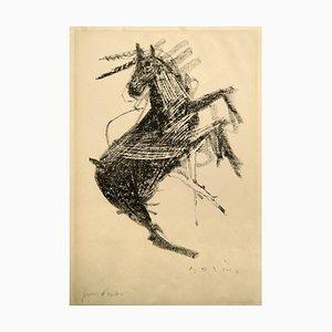 Litografía Horse II - Original de Marino Marini - 1948 1948