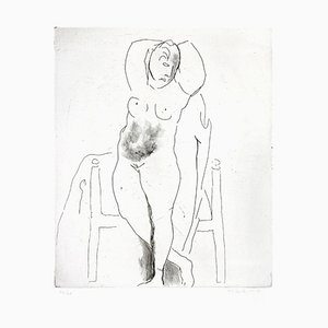 Female Nude - Original Etching by Marino Marini - 1950 1950