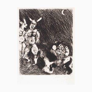 Le Satyre et le Passant - Original Etching by Marc Chagall - 1927-30 1927-30