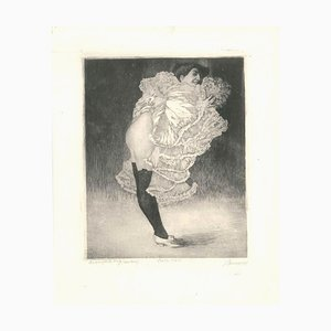 Can Can - Original Etching by Luigi Bonazza - 1905 1905