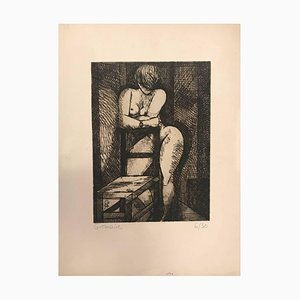 Nu à la Chaise - Original Etching by Marcel Gromaire - 1930s 1930s